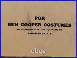 1960s Ben Cooper Costumes Original Hanger Store Display Addams Family Etc