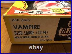 1970s Collegeville Costume Vampire #3293 Large 12-14 Halloween Monster In Box