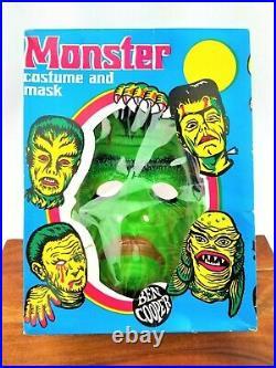 1973 Ben Cooper FRANKENSTEIN Monster Box Vintage Costume Mask Retro Graphics