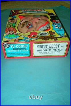 1976 Howdy Doody Halloween Costume by Ben Cooper Size M