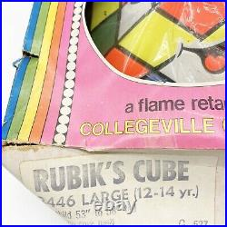 1982 Rubiks cube Vintage Halloween costume in box Super Star Costume with Mask