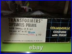 1984 Transformers Optimus Prime Collegeville Halloween Costume IN BOX mint