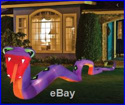 20' LED Lighted Inflatable Giant Snake Halloween Airblown Outdoor Decoration