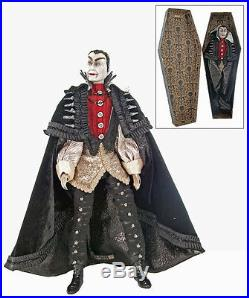 28-628046 Katherine's Collection Count Vampire in Coffin Halloween Doll Dracula
