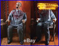 4.5' ANIMATED ELECTROCUTED PRISONER DEATH ROW Halloween Prop