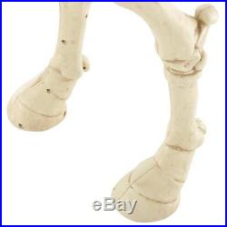 52 H Spooky Skeleton Pony Horse with LED Eyes Sounds Halloween Holiday Decor