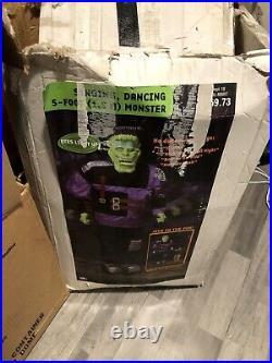 5ft GEMMY Animated FRANKENSTEIN MONSTER Spirit Halloween Rare Htf Thriller HCC