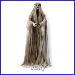 66 Animated Zombie Ghost Bride with Lighted Eyes Life Size Halloween Prop Outdoor