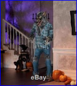6.5 FT ANIMATED GROWLING SNARLING WEREWOLF Halloween Prop HAUNTED HOUSE