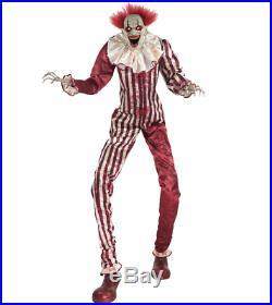 6.5 Ft Towering Creepy Carnival Clown Animatronic Halloween Decoration VIDEO