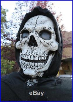 6 Foot Black Skeleton Grim Reaper Animated Halloween Decorations & Props