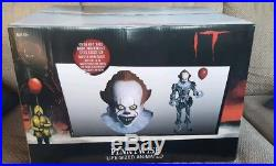 6 FT ANIMATED PENNYWISE THE CLOWN FROM IT Halloween Prop HAUNTED HOUSE