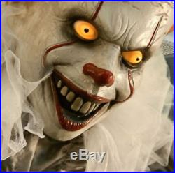 6 FT ANIMATED PENNYWISE THE CLOWN FROM IT Halloween Prop, Stephen King, Horror