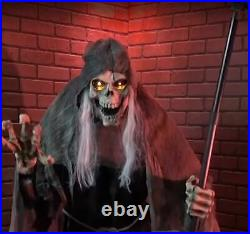 6 Ft ANIMATED LUNGING REAPER Halloween Prop HAUNTED HOUSE