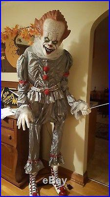 6ft halloween animated lifesize Pennywise IT clown prop NIB