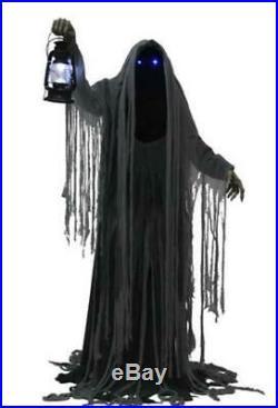 76 Animated Creepy Grim Reaper Haunted House Halloween Decoration Prop