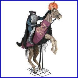 7.5 Ft ANIMATED HEADLESS HORSEMAN Halloween Prop HAUNTED HOUSE