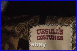 90's VTG Ursula's Costume game of thrones embelished buffalo hide fur cape coak