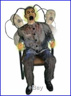 ANIMATED DEATH ROW ELECTROCUTED PRISONER Halloween Prop