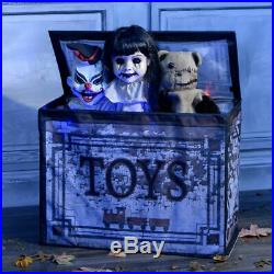 ANIMATED HAUNTED TOY CHEST Halloween Prop HAUNTED HOUSE