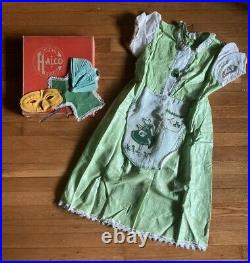 ANTIQUE 1930s 40s HALCO BRAND 119 IRISH LASSIE CHILD'S HALLOWEEN COSTUME-RARE