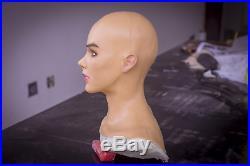 A female realistic silicone maskfemale maskbecome a beauty
