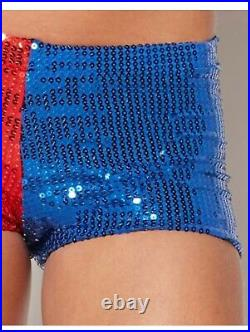 Adult Sequin Harley Quinn Shorts Suicide Squad (sh) Size Medium O3