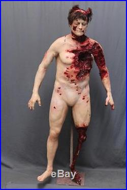 Animal Attack Bloody Male Corpse Haunted House Halloween Horror Prop