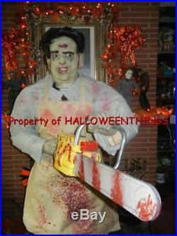 Animated 6 Foot Leatherface Texas Chainsaw Massacre Halloween Display Prop Rare