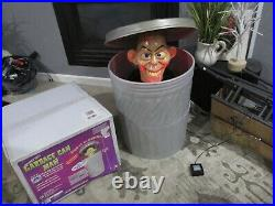 Animated Garbage Can Man Halloween Prop Extremely Rare 2006 Gemmy Spirit Working