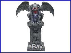 Animated Haunted Gargoyle Tombstone Statue Mythology Gothic Castle Grave Crypt