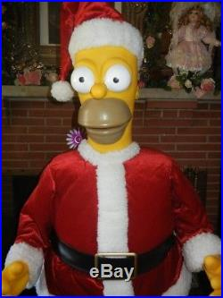 eb94ab5c8a864 Animated Lifesize Homer Simpson Singing   Dancing Santa Christmas Display  Rare