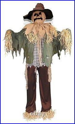 Animated Standing SURPRISE Scarecrow Prop Lifesize Halloween Porch Door Greeter