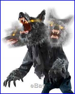 Animated Werewolf Halloween Prop Haunted Monster Yard Zombie Animatronic LED New