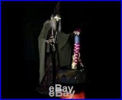 Animated Witch Child-Tastrophe With Fog Machine Prop Lifesize Decoration Cauldron