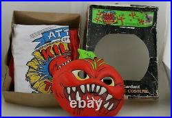 Attack Of The Killer Tomatoes Halloween Costume & Mask Rare! Collegeville