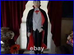 BELA LUGOSI DRACULA Blow Mold by Don Featherstone Made in the USA. Lighted. 42