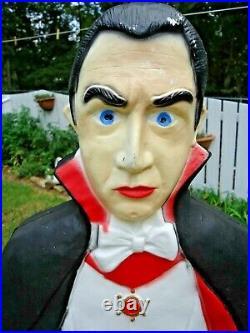 Bela Lugosi Dracula Vampire Halloween Blow Mold Don Featherstone 42 Tall