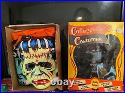 COLLEGEVILLE 1960S FRANKENSTEIN Monster Costume MASK & COSTUME IN MINT SHAPE