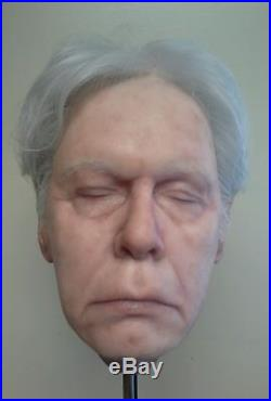 Custom Realistic Silicone Male Prop Head Film Quality Halloween Collectibles