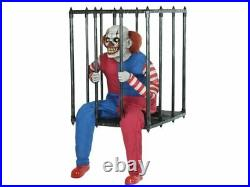 Caged Clown Walk Around Costume Carry Animated Halloween Haunted House Prop NEW