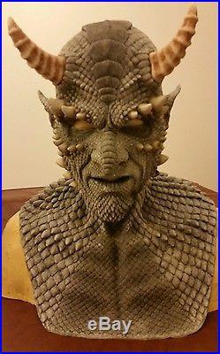 Cfx grey belial gargoyle silicone mask haunt horror demon monster attraction