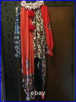 Clown Costume Vintage Handmade Creeper Bozo Fabric Adult M Dress Up Party