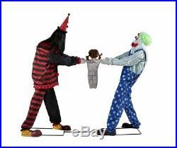 Clown Tug of War Prop Animated Halloween Animatronic Lifesize Circus