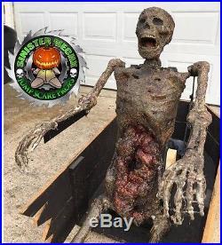 Coffin Reacher Zombie Custom Built Animatronic Halloween Jump Scare Prop O-O-A-K
