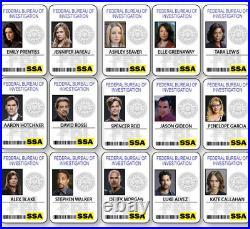 Criminal Minds Collection 15 Name Badges Props Halloween Cosplay Pin Backs