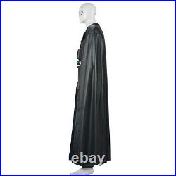 DFYM Star Wars Darth Vader Cosplay Costume Leather Outfit Black Halloween Men