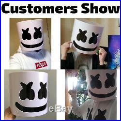 DJ Marshmello Mask Head Helmet Halloween Prop Cosplay Concert Music Fans Props