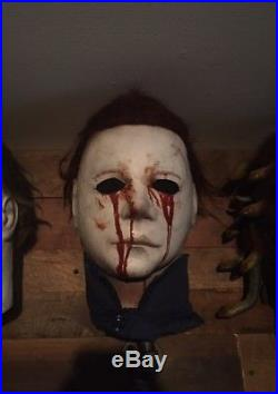 Don Post Studios 1998 Shat/ Michael Myers H2 Stunt Mask (signed By Dick Warlock)