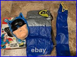 Estate VTG Rare Batman 1976 Ben Cooper Batman Costume Youth Large 12-14 DC Comic